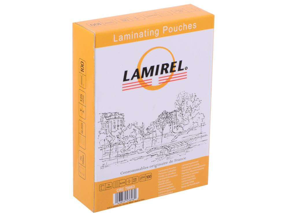 Пленка для ламинирования  Lamirel 75x105мм, 125мкм, 100 шт.