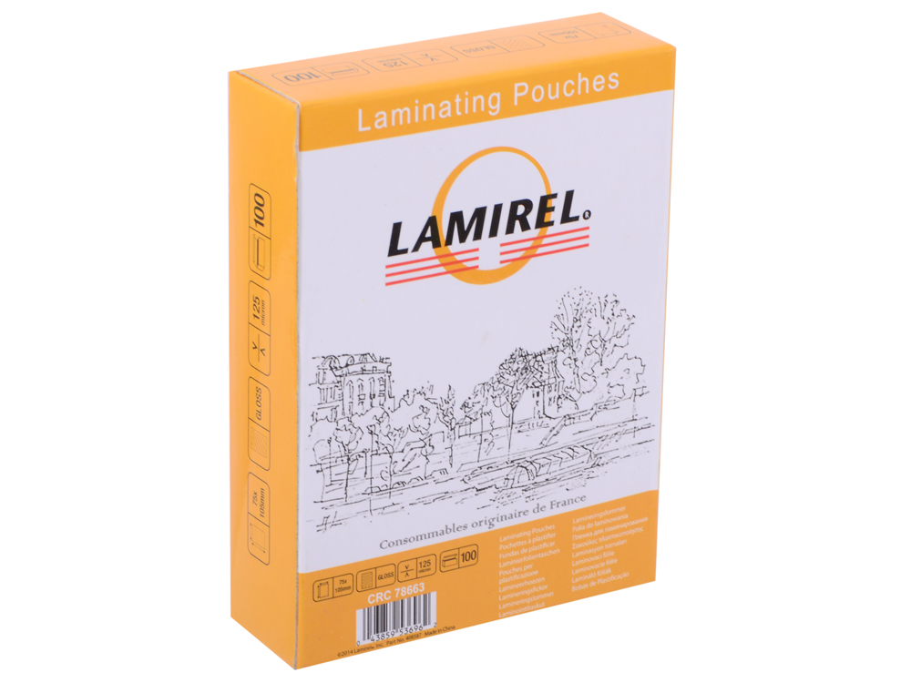 Плёнка для ламинирования Lamirel (LA-78663) 75x105 мм, 125 мкм, глянцевая, 100 шт. товар аксессуар для винила pro ject инструмент для выравнивания тонарма align it
