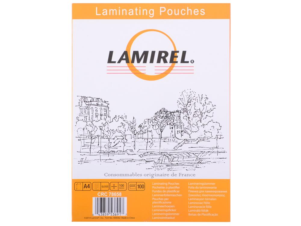 Пленка для ламинирования  Lamirel А4, 100мкм, 100 шт. цена и фото