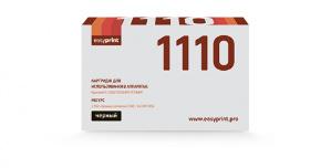 Тонер-картридж EasyPrint LK-1110 для Kyocera FS-1040/1020MFP/1120MFP. Чёрный. 2500 страниц. с чипом картридж colouring cg tk 1110 для fs 1040 1020mfp 1120mfp 2500стр