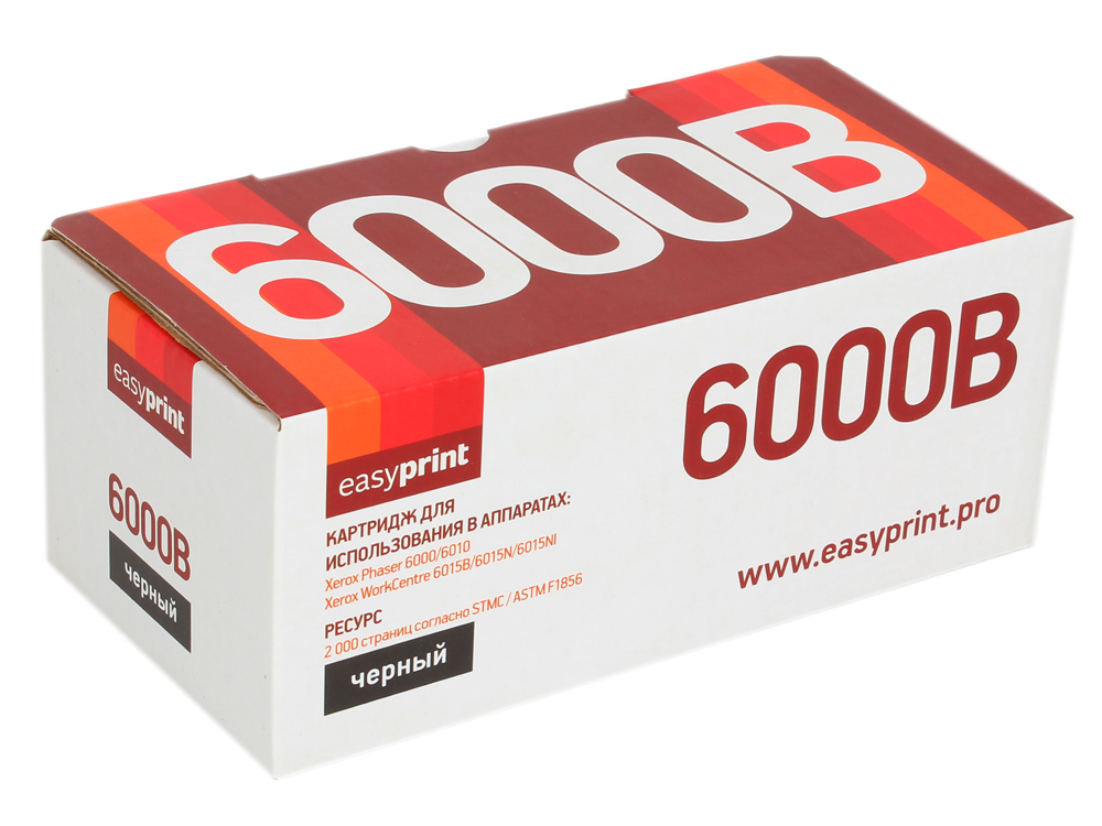 Картридж EasyPrint LX-6000B для Xerox Phaser 6000/6010N/WorkCentre 6015. Чёрный. 2000 страниц. с чипом (106R01634) toner for fuji xerox workcentre 6015ni phaser 6015 106r1630 p 6015 laserjet cartridge printer laser powder free shipping