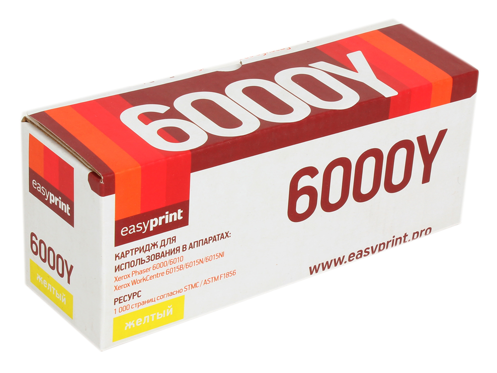 Картридж EasyPrint LX-6000Y для Xerox Phaser 6000/6010N/WorkCentre 6015. Жёлтый. 1000 страниц. с чипом (106R01633) картридж xerox 106r01632 для xerox ph 6000 6010n wc 6015 пурпурный
