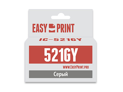Картридж EasyPrint IC-CLI521Y для Canon PIXMA iP4700/MP540/620/980/MX860. Жёлтый. 510 страниц. с чипом