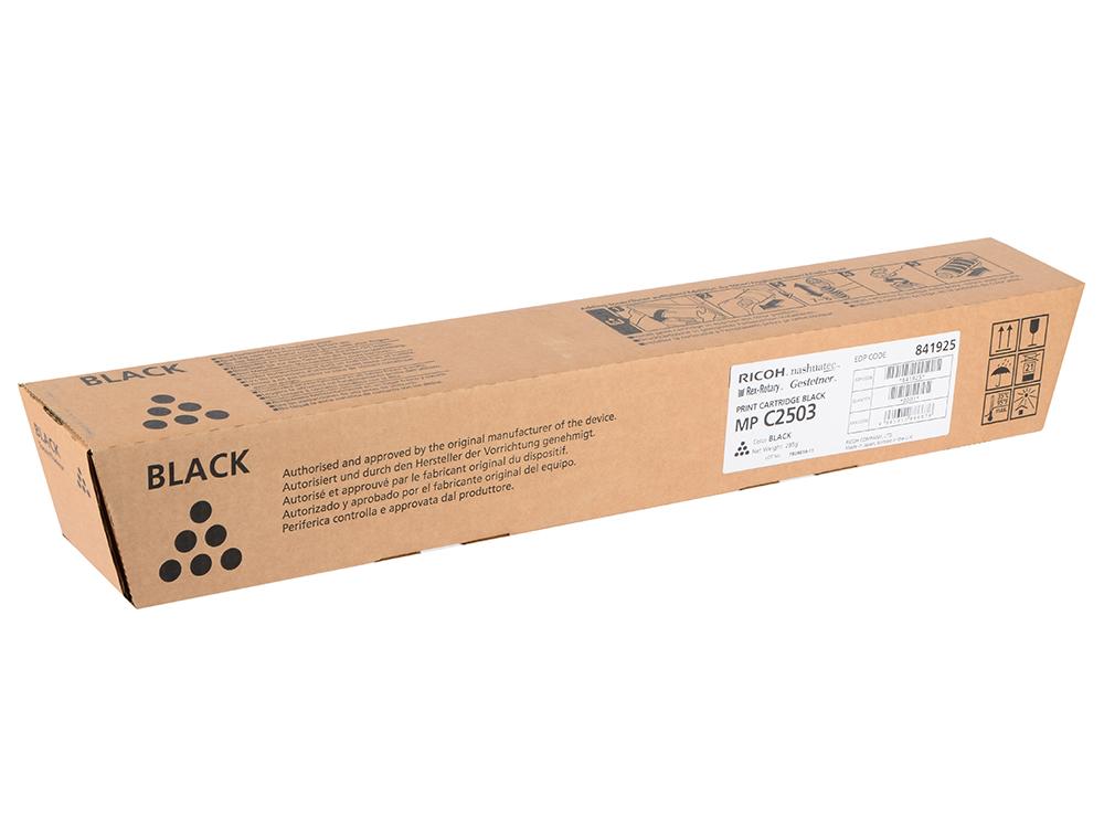 Тонер-картридж Ricoh MP C2503 для MP 2503. Черный. 15000 страниц. тонер ricoh mp 2014h для ricoh mp 2014d ad черный 842135
