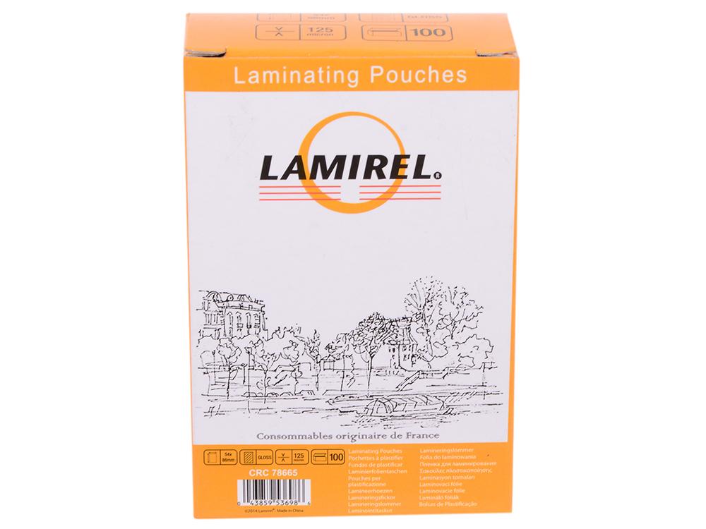 Пленка для ламинирования Fellowes Lamirel CRC-78665 125мкм 100шт 54x86
