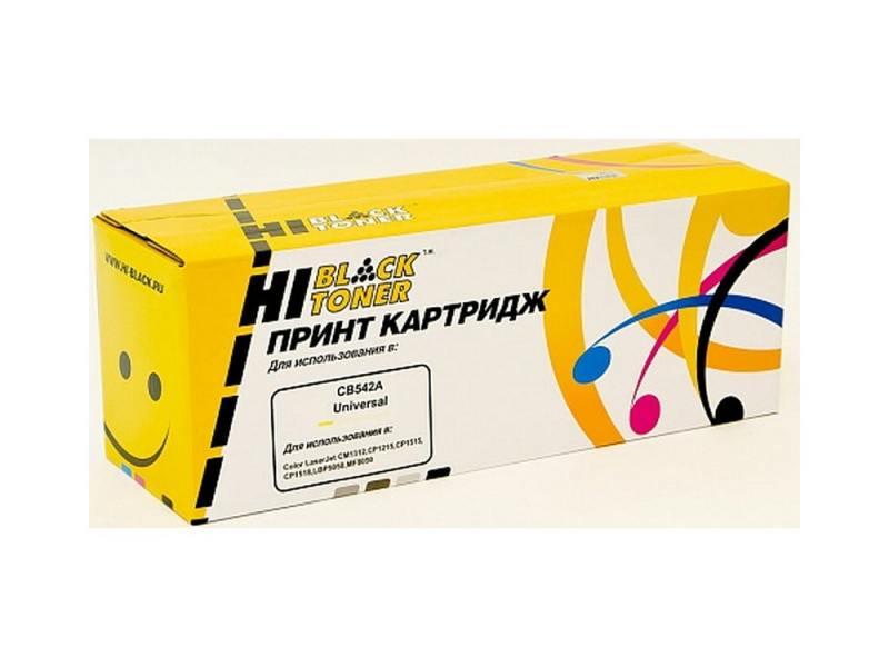 Картридж Hi-Black для HP CB542A CLJ CM1300/CM1312/CP1210/CP1215 желтый 1500стр картридж hi black для hp cb542a clj cm1300 cm1312 cp1210 cp1215 желтый 1500стр