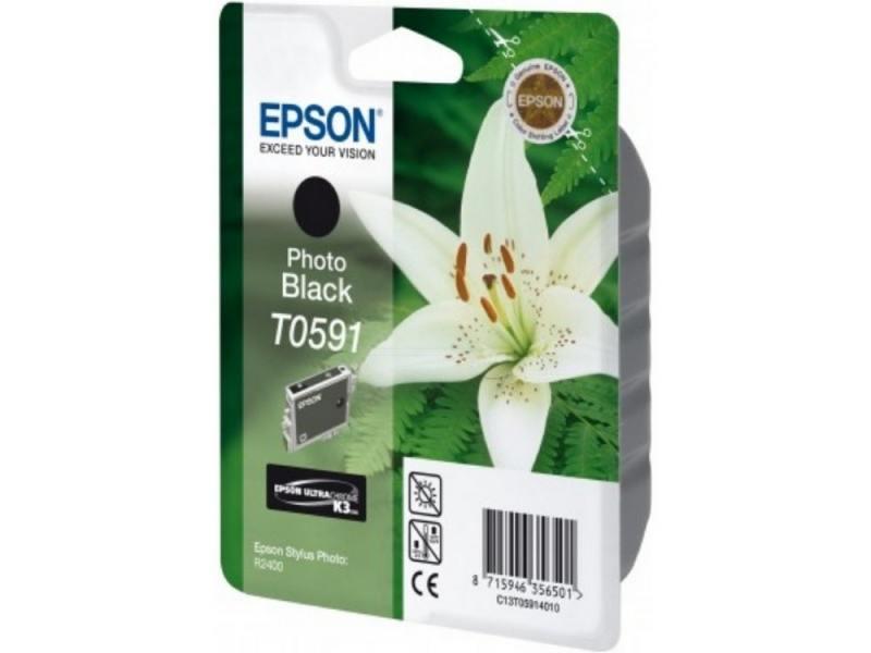 Картридж Epson C13T05914010 T059140 для Epson Stylus Photo R2400 черный картридж epson t009402 для epson st photo 900 1270 1290 color 2 pack