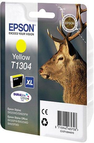все цены на Картридж Epson C13T13044010 T1304 для SX525WD SX620FW BX525WD BX625FWD Yellow Желтый