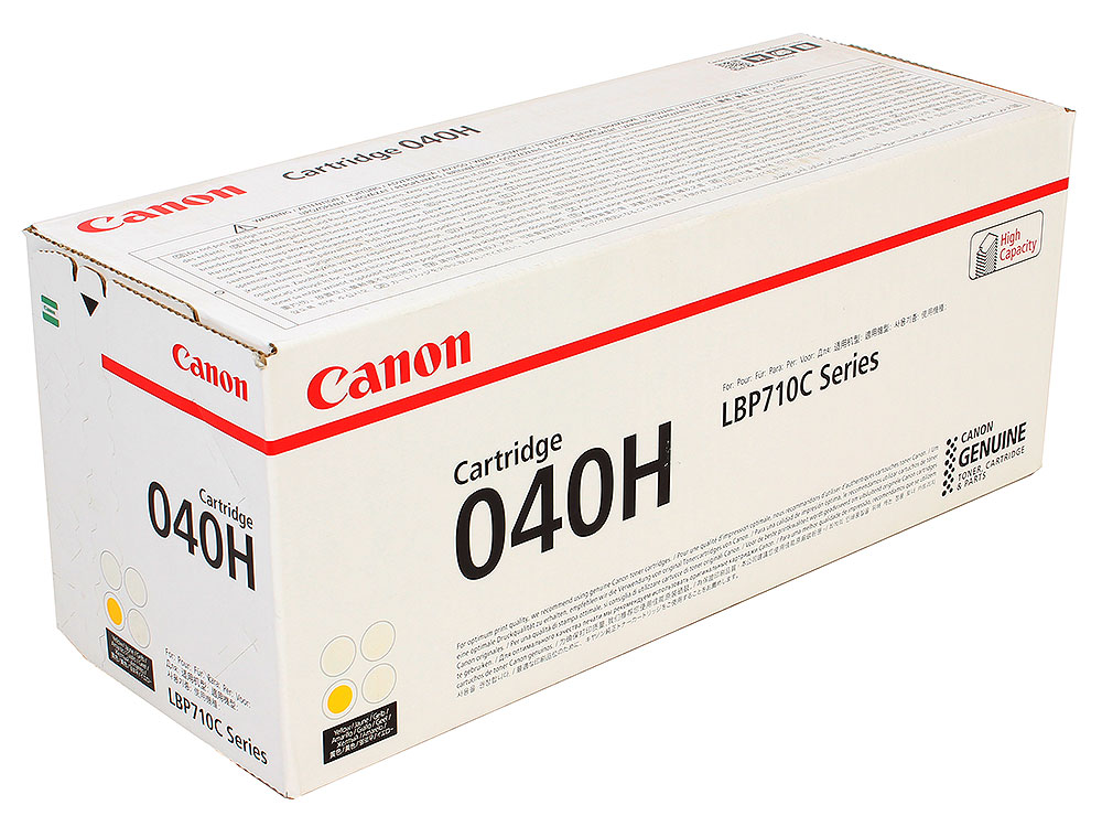 Картридж Canon 040 H Y для принтеров i-SENSYS LBP712Cx, LBP710Cx. Жёлтый. 10000 страниц 12v 50w 4 2a inami mentor burton ophthalmatic halogen slit lamp 12v50w p44s ophthalmoscope light bulb free shipping