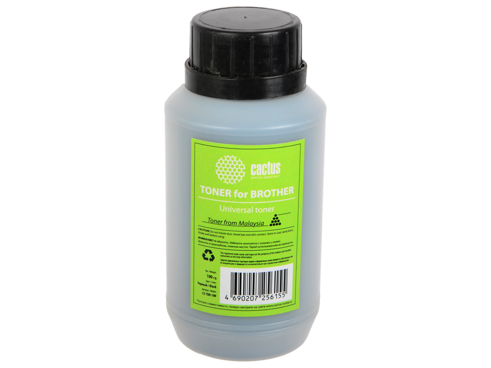 Тонер Cactus CS-TBR-100 Universal toner Brother черный 100гр compatible toner tektronix 790 printer bulk toner powder for tektronix phaser 790 790dp 790n toner refill for tektronix toner