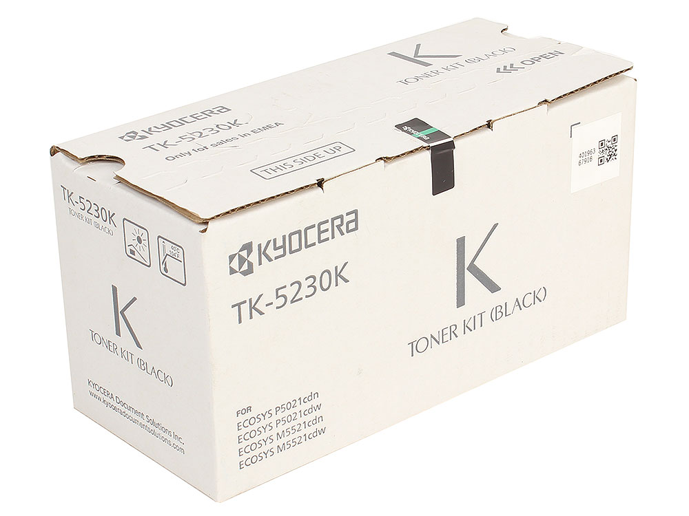 Тонер Kyocera TK-5230K для Kyocera ECOSYS M5521cdn/cdw, M5526cdn/cdw, P5021cdn/cdw, P5026cdn/cdw. Чёрный. 2600 страниц. картридж kyocera tk 5230k 1t02r90nl0 для kyocera p5021cdn cdw m5521cdn cdw черный