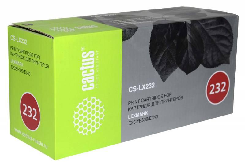 Картридж Cactus CS-LX232 24016SE для Lexmark Optra E230/E232T/E240N/E332N/E342/E232/E234/E330/E332TN