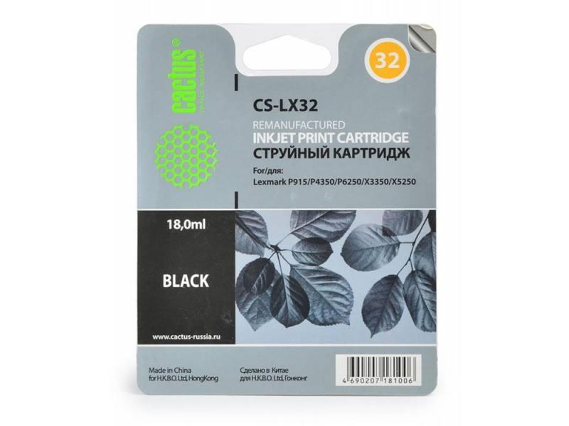 Картридж Cactus CS-LX32 для Lexmark Z815 X5250 черный