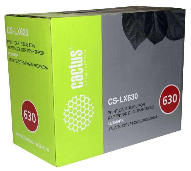 Картридж Cactus CS-LX630 12A7362 для Lexmark T630/T630 VE/T630dn/T630n/T630n VE/T632/T632dn/T632dtn/