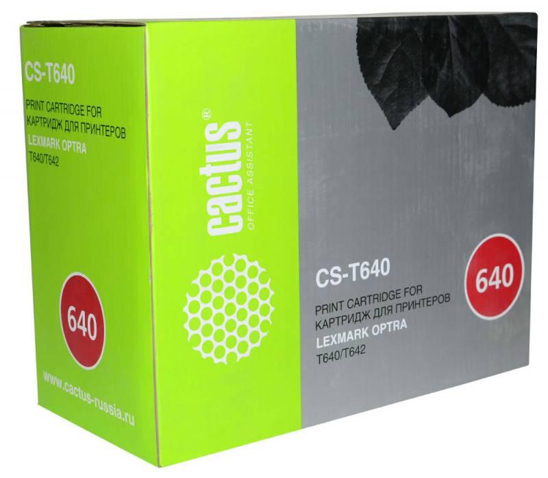 Картридж Cactus CS-T640 64016HE для Lexmark Optra T640/T642 черный 21000стр