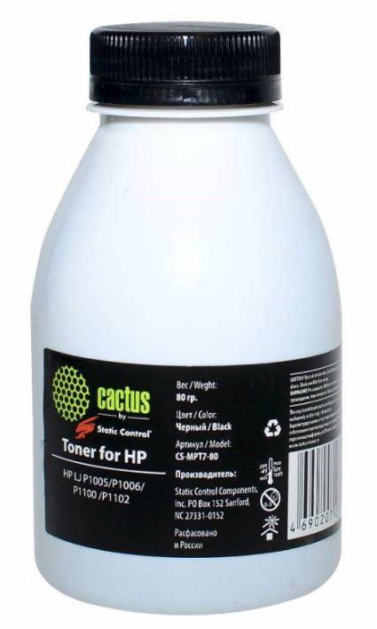 Тонер Cactus CS-MPT7-80 для HP LJ P1005/P1006/P1100/P1102 черный