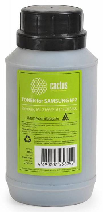 Тонер Cactus CS-TSG2-100 для Samsung ML 2160 2165 SCX 3400 черный 100гр