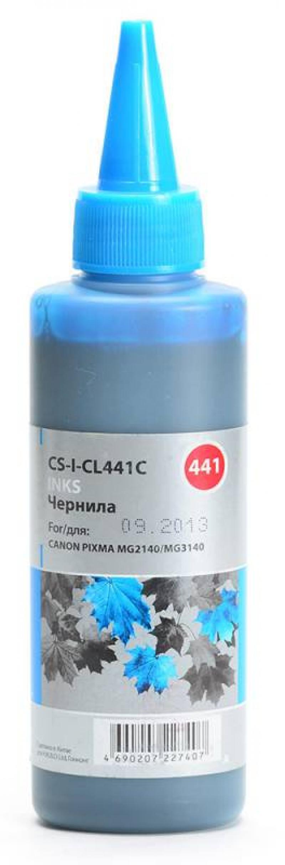 Чернила Cactus CS-I-CL441С для Canon Pixma MG2140/MG3140 100 мл голубой