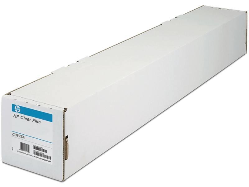 Пленка HP 36 A0 914мм х 22.9м 174г/м2 рулон для струйной печати матовая прозрачная C3875A бумага hp 36 a0 914мм х 91 4м 90г м2 рулон для струйной печати ярко белая c6810a