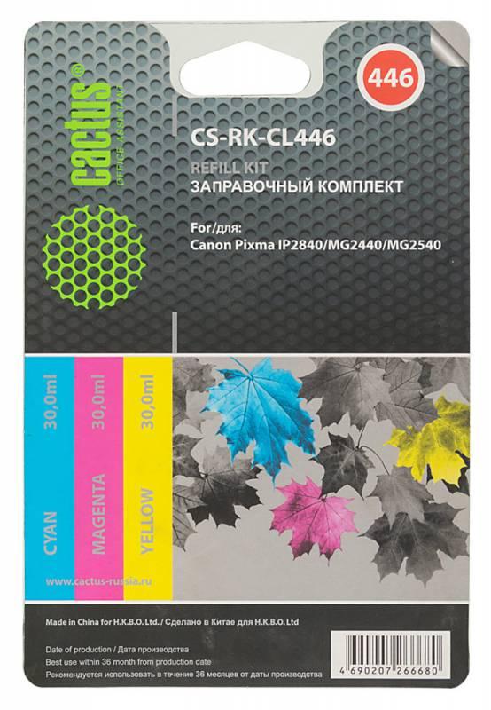 цена на Заправка Cactus CS-RK-CL446 для Canon Pixma MG2440/MG2541 цветной 90мл