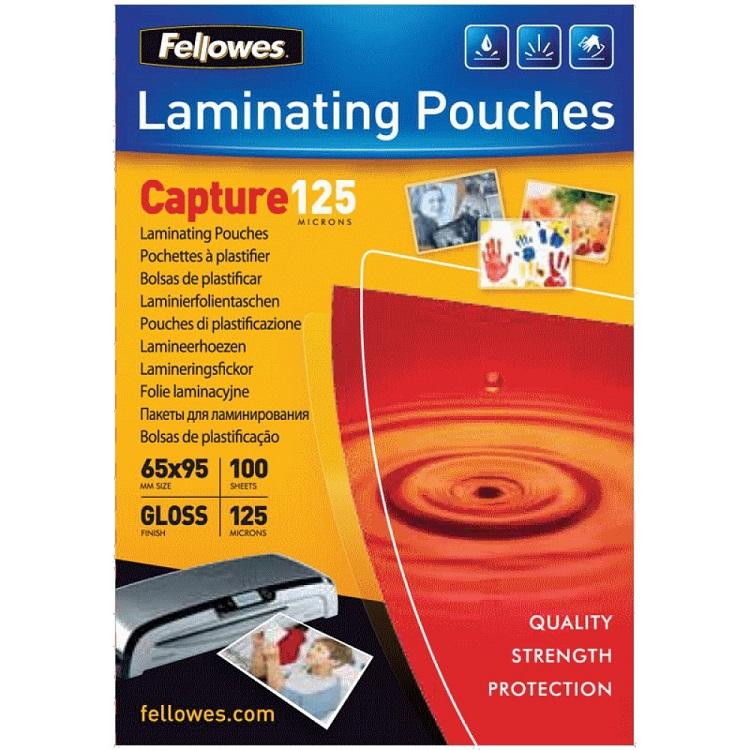 Плёнка для ламинирования Fellowes (53067) 65х95 мм, 125 мкм, глянцевая, 100 шт. fellowes fs 53067 65 х 95 мм пленка для ламинирования 125 мкм 100 шт
