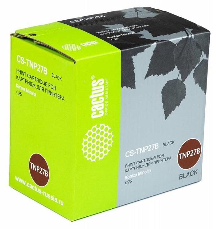 Тонер-картридж Cactus CS-TNP27B для Konica Minolta C25 черный 6000стр тонер картридж cactus cs tnp27c для konica minolta c25 голубой 6000стр