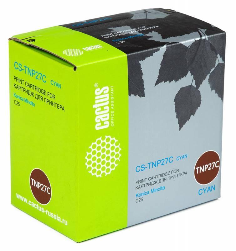Тонер-картридж Cactus CS-TNP27C для Konica Minolta C25 голубой 6000стр цена