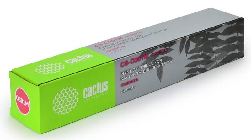 Картридж Cactus CS-O301M для OKI C301/321 пурпурный 1500стр картридж cactus cs o301m cs o301m