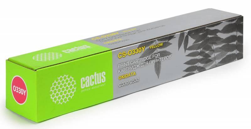 Картридж Cactus CS-O330Y для OKI C330/C530 желтый 2000стр lm6 330