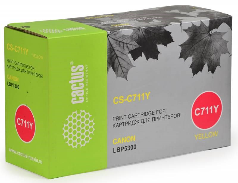 Картридж Cactus CS-C711Y для Canon LBP5300 желтый 6000стр картридж совместимый для струйных принтеров cactus cs pgi29y желтый для canon pixma pro 1 36мл cs pgi29y