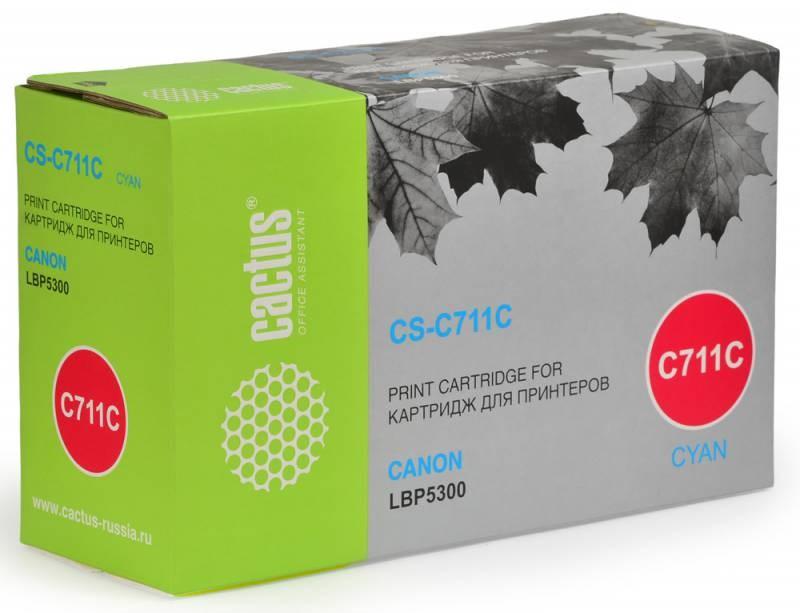 Картридж Cactus CS-C711C для Canon LBP5300 голубой 6000стр cactus cs cli521y для canon