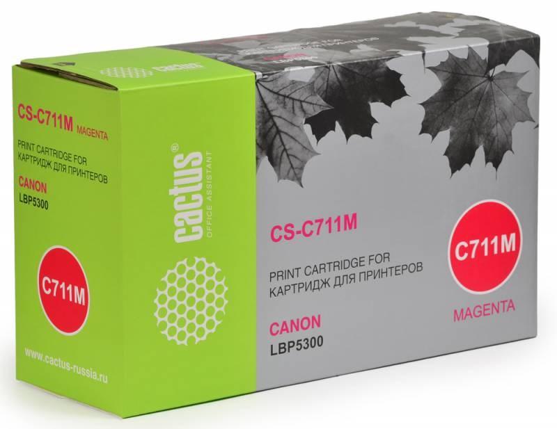 Картридж Cactus CS-C711M для Canon LBP5300 пурпурный 6000стр картридж cactus cs pgi1400xlm пурпурный