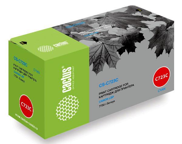 Картридж Cactus CS-C723C для Canon LBP 7750 i-Sensys голубой 8500стр картридж cactus cs c725d для canon lbp i sensys 6000 6000b черный 1600стр