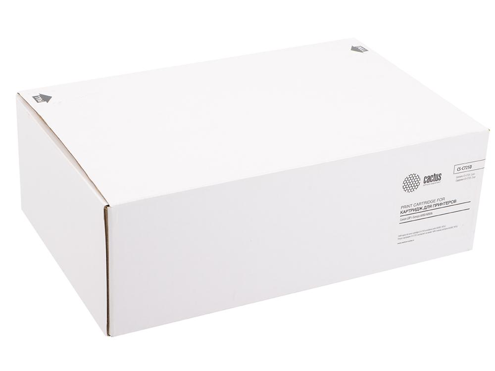 Картридж Cactus CS-C725D для Canon LBP i-Sensys 6000/6000b черный 1600стр картридж cactus cs c725s для canon lbp 6000 i sensys 6000b i sensys mf3010 lbp6030w black