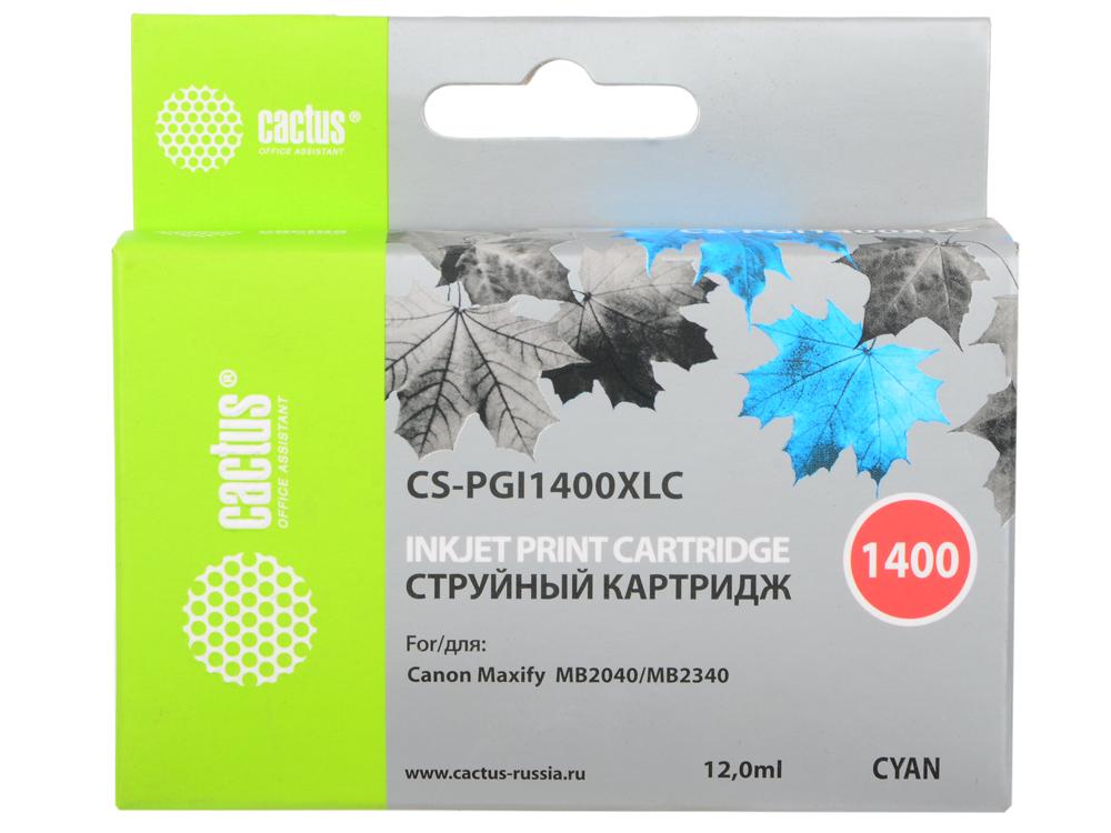Картридж Cactus CS-PGI1400XLC для Canon MB2050/MB2350/MB2040/MB2340 голубой картридж cactus c4127x cs c4127x