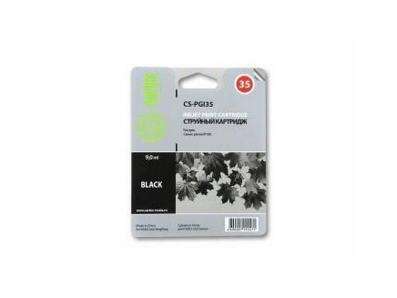 Картридж CACTUS CS-PGI35 для Canon iP100 черный 190стр струйный картридж cactus cs pgi35 черный для canon ip100 200стр