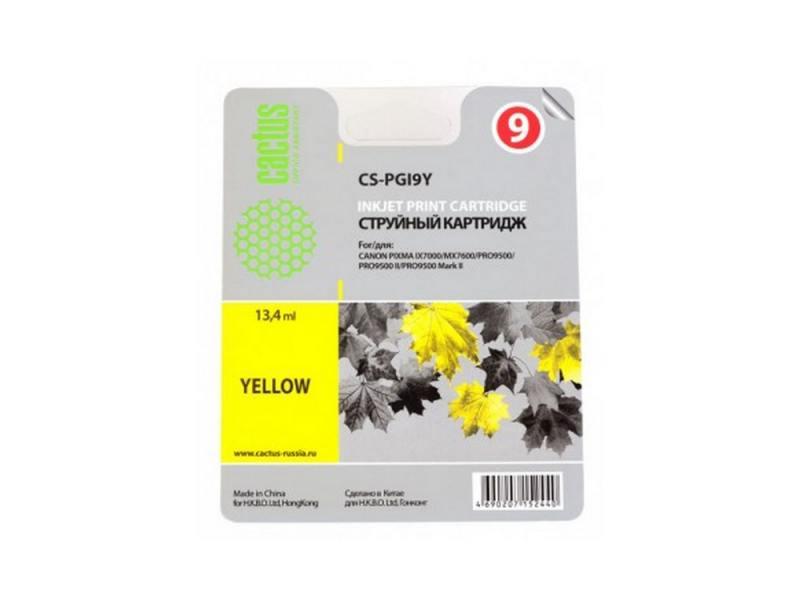 Картридж CACTUS CS-PGI9Y для Canon Pixma X7000 MX7600 PRO9500 желтый картридж cactus cs pgi29y для canon pixma pro 1 желтый