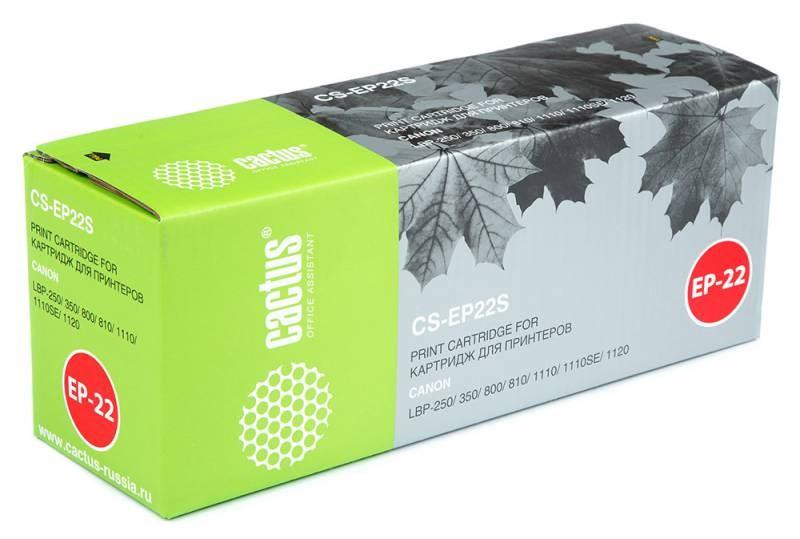 Тонер-картридж Cactus CS-EP22S для Canon LBP-250 350 800 810 1110 1110SE 1120 черный 2500стр тонер картридж cactus cs ep22s