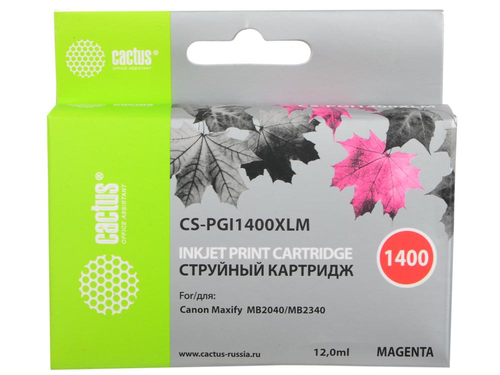 Картридж Cactus CS-PGI1400XLM для Canon MB2050/MB2350/MB2040/MB2340 пурпурный картридж cactus cs pgi1400xlm пурпурный