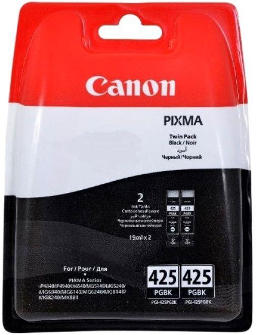 Картридж Canon PGI-425 PGBK для iP4840/MG5140 черный 344стр 2шт картридж canon pgi 480 pgbk черный [2077c001]