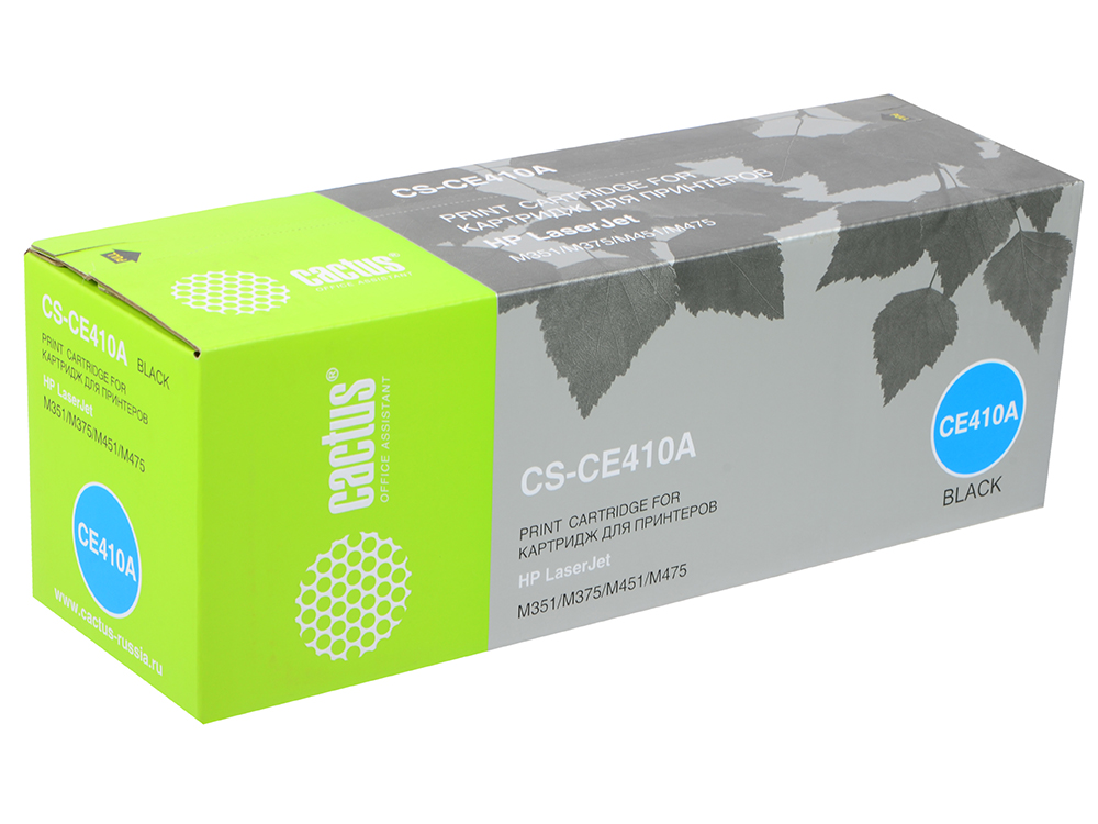 Картридж Cactus CS-CE410A для HP CLJ Pro 300 Color M351 /Pro 400 Color M451 черный 2200стр картридж clj pro 300 color m351 pro 400 color m451 pro 300 color mfp m375 pro 400 ce410a ce410a