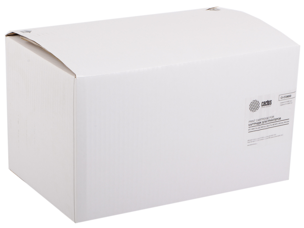 Картридж Cactus CS-CF280XD для HP LJ Pro 400/M401/M425 черный двойная упаковка картридж cactus cs ce260x для hp lj cp4025 cp4525 cm4540 черный 17000стр