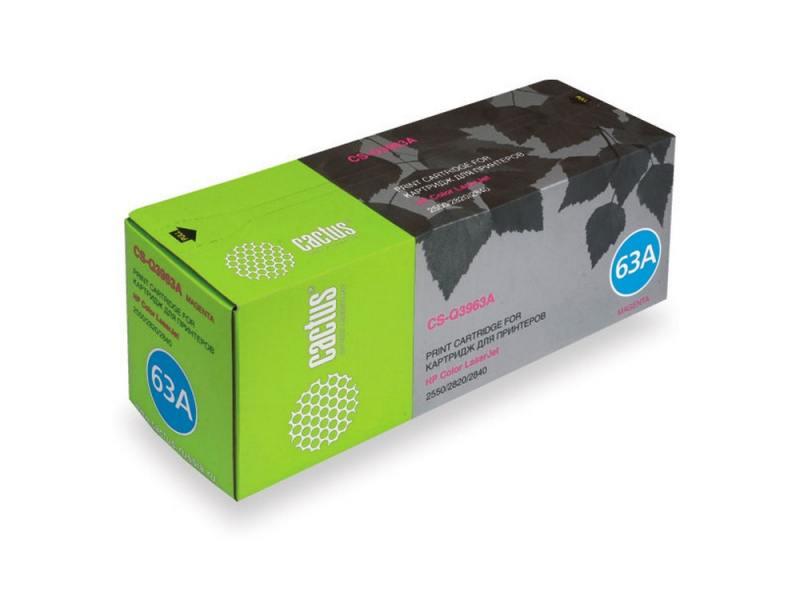 Фото Картридж Cactus CS-Q3963A для HP Color LaserJet 2550/2820/2840 пурпурный 4000стр gzlspart for hp 2820 2840 hp2820 hp2840 original used formatter board q7776 60001 laserjet priter parts on sale