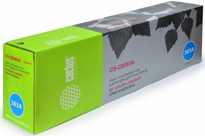 Тонер Картридж Cactus CS-CB382AR желтый для HP CLJ CM6030/CM6040/CP6015 (21000стр.) тонер картридж cactus cs cb383ar пурпурный 21000стр