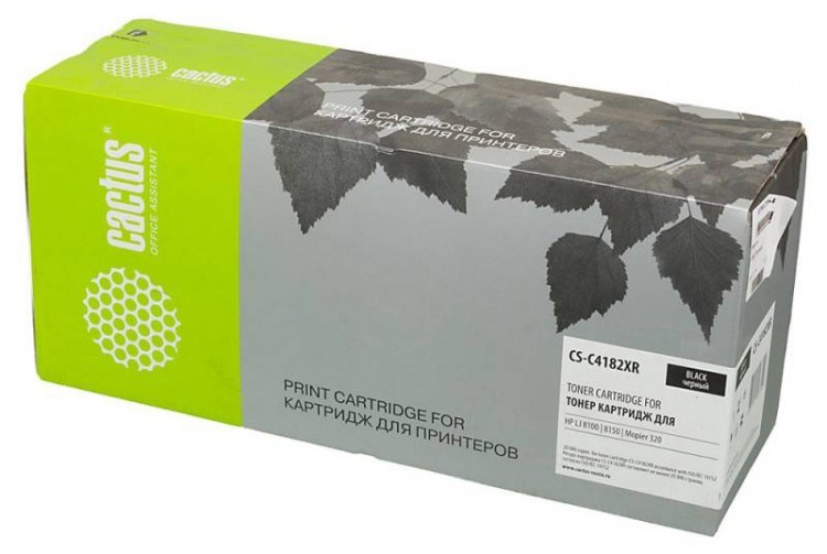 Тонер Картридж Cactus CS-C4182XR черный для HP LJ 8100/8150/Mopier 320 (20000стр.) alzenit for hp 8100 8150 original used fuser unit assembly rg5 4319 rg5 4315 220v printer parts on sale