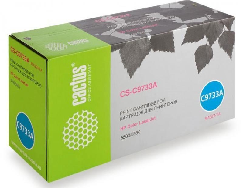 Тонер Картридж Cactus CS-C9733AR пурпурный для HP CLJ 5500/5550 (12000стр.) тонер картридж cactus cs ep22s