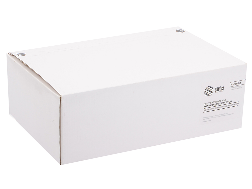 Тонер Картридж Cactus CS-CB435AD черный x2уп. для HP LJ P1005/P1006 тонер cactus cs mpt7 80 черный флакон для принтера hp lj p1005 p1006 p1100 p1102 80гр