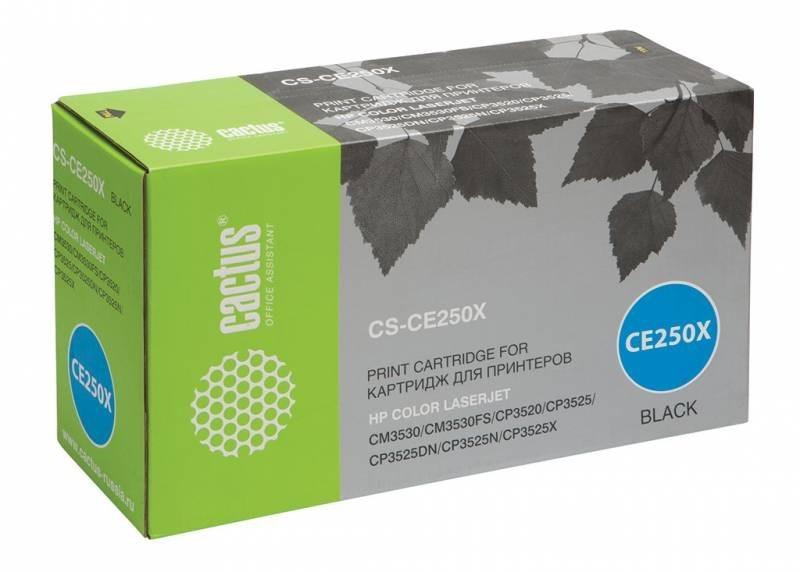 Тонер Картридж Cactus CS-CE250XR черный 10500стр тонер картридж cactus cs ep22s
