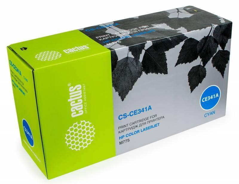 Тонер Картридж Cactus CS-CE341AR голубой для HP CLJ M775 (16000стр.)