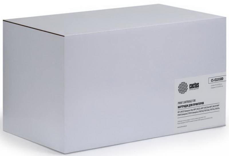 Тонер Картридж Cactus CS-CE255XD черный x2уп. для HP LJ P3015 тонер картридж cactus cs ep22s